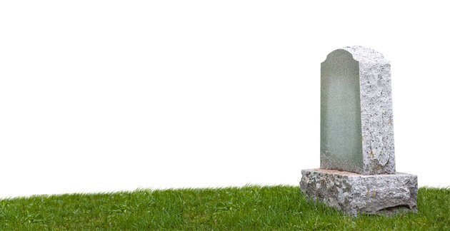 US moratlity rates headstone