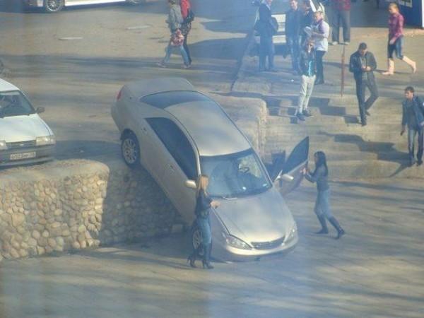 Woman parking