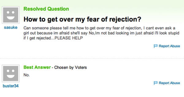 Fear of rejection dating