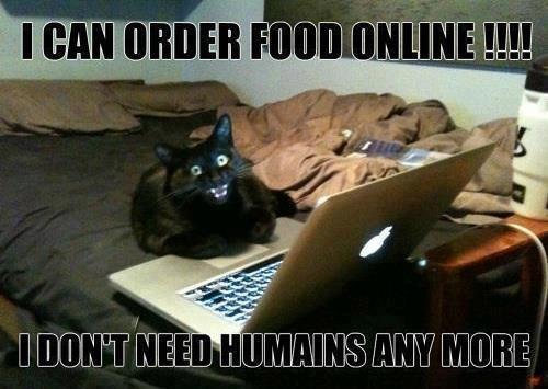 I can order food online