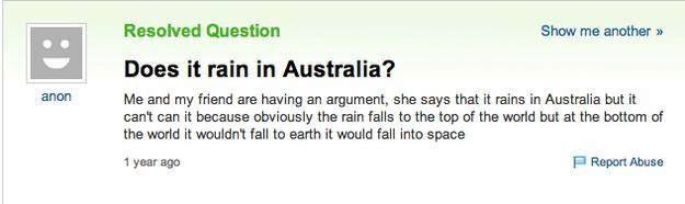 Does it rain in australia