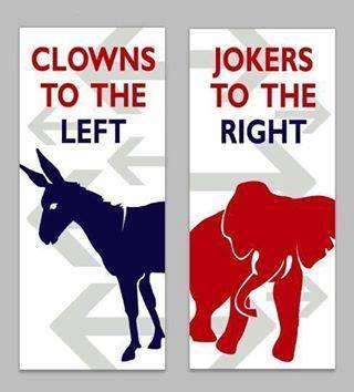 Clown to the left