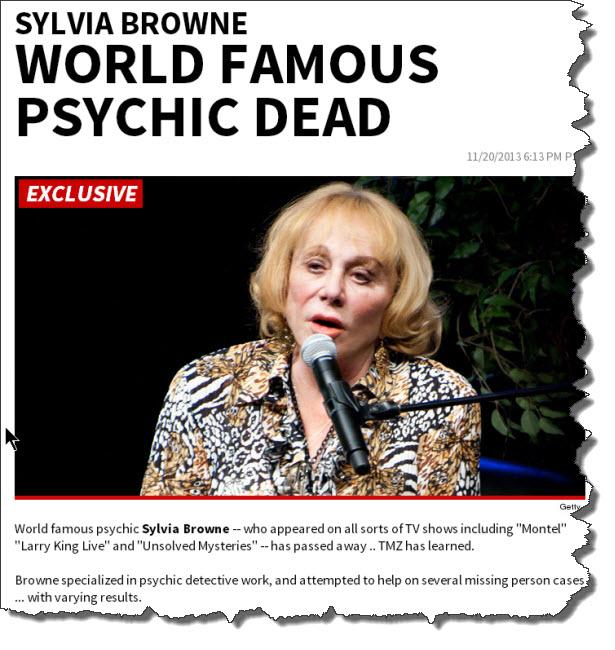 Sylvia Browne Dead