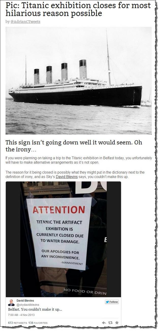 Titanic closed
