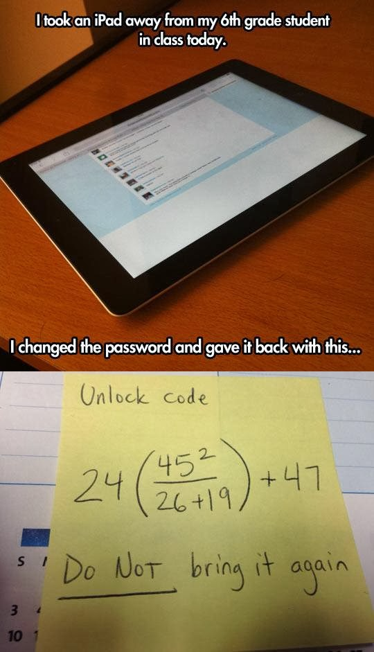 Clever teacher